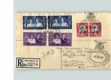North Africa, Registered Pretoria, 1947 with 6 stamps, sent to New York