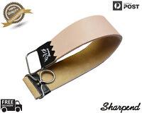 Professional Barber Leather Strop Straight Razor Sharpening Shaving Strap NEW