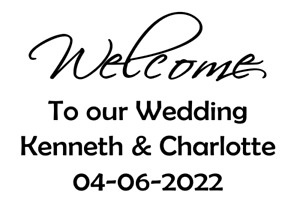 Welcome to our Wedding Wedding Day Vinyls design for A4 perspex Personalised