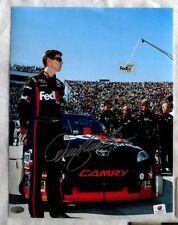 DENNY HAMLIN SIGNED AUTOGRAPH 8.5x11 NASCAR RACING PHOTO SMC COA