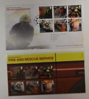 2009 ROYAL MAIL FIRE AND RESCUE SERVICE PRESENTATION FOLDER & FDC LOT 404*