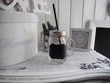 Vetro Con maniglia Cannuccia Barattolo di marmellata Coppa Stile nostalgico