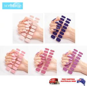 16pcs Nail Stickers Nail Wrap Self Adhesive Full Cover Nail Art Solid Colour 2