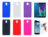 """Case Cover Gel TPU Silicone For LG K30 (4G) 5.45"""" + Optional Protector"""