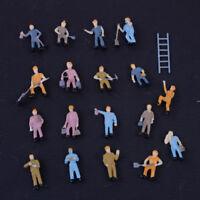 27 Stücke 1:87 Modelleisenbahn Figuren Gemalt Modellbahn Bauarbeiter Menschen