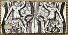 TWO ANTIQUE 18C DUTCH DELFT MANGANESE TILE FEATURING CHERUBS AND FLOWERS