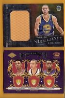 STEPHEN CURRY JUMBO GAME USED JERSEY & CROWN ROYALE ROOKIE CARD GOLDEN STATE