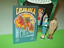 Hallmark Casablanca Humphrey Bogart Ingrid Figure Miniature 1997 Ornaments