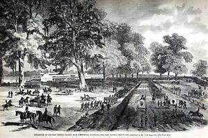 Simmisport Louisiana 1863 BANKS'S TROOPS to PORT HUDSON Matted Civil War Print
