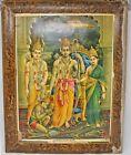 Vintage Litho Print God Ayodhya Pati Rama Subject Original Old Artist Narottam S