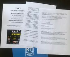 "Vasco Rossi ""VASCO NON STOP LIVE FESTIVAL 2020"" comunicato stampa promo"