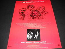 Black Sabbath is Hell Bent and Heaven Sent dynamic 1980 Promo Poster Ad