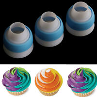 Cake Russian Icing Piping Converter Bag Cream Coupler Nozzles Decorating Tools U