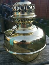 Vintage Cleaned Pre-owend Brass Oil Lamp  Veritas Round Base With No Wick