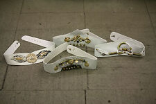 JOB LOT of 50 Womens Belts (WHITE)  ONE SIZE assorted styles.  Car boot/market
