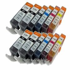 12pk Ink for Canon PIXMA MP560 MP620 MP630 MP640 Printer PGI-220 CLI-221 Ink