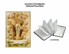 Accordion Flat Address/Phone Book- Our Lady of Lourdes