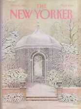 New Yorker COVER 12/26/1983  Snowy Garden - OLIVER