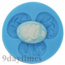 Mermaid Cabochon Cameo Silicone Mold For Polymer Clay Crafts Resin 40x30mm A265