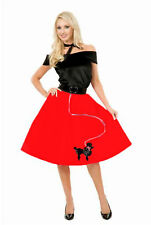 """50's """"RED POODLE SKIRT"""" FIFTIES - ADULT SMALL 5-7 HALLOWEEN COSTUME"""