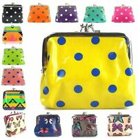 LYDC Girls Women's Coin Purses NEW Oilcloth Small Pouch Polka Aztec Butterfly UK