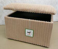Large Beige Jumbo Cord Fabric Pouffes/ Storage Box /Footstools