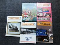 THE LION ROARS Magazine LOT OF 5, 1991 LIONEL TRAIN COLLECTORS, LIONEL CLASSIC!