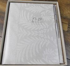 C.R.Gibson 25th Wedding Anniversary Book With Pen WV2-25