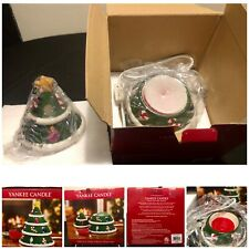 Yankee Candle Retired Green Christmas Tree Electric Tart Wax Melts Warmer In Box