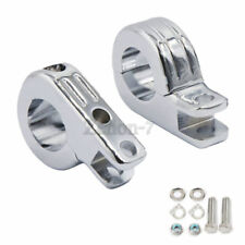 "1 1/2"" 1.5""  Highway Engine Guard Crash Foot pegs Rest Mount Clamp For Harley"