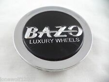 Bazo Luxury Wheels Chrome / Black Custom Wheel Center Cap # C122701-CAP (1 CAP)