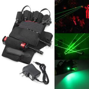 Links Hand Grün Laser LED Handschuhe 4 Laser Kopf DJ Disko Party Licht Effekt