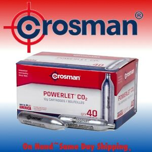 Crosman 12-Gram CO2 Powerlet Cartridges for Air Rifles and Air Pistols | 40 Ct