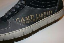 Neu Camp David Echtleder Herren Sneaker grau 45 Leder Halbschuh Turnschuh Schuhe