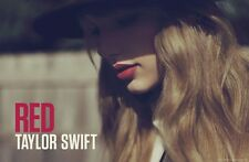 TAYLOR SWIFT RED LP ALBUM CD COVER POSTER 34X22 NEW FAST FREE SHIPPING