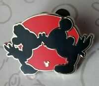 Mickey & Minnie Kiss Completer Red Silhouette Hidden 2018 DLR Disney Pin 130722