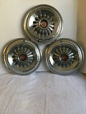 3 1965 Ford Fairlane 500 14 Hubcap Wheelcover Center Cap Vintage