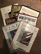 WINE ENTHUSIAST MAGAZINES- LOT OF 7- 1998, 1999, 2000, 2004- CULINARY- COOK