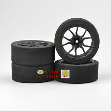 Set 4X Foam Tires&12mm Hex Wheel 23003 For HSP HPI RC 1/10 on-road Racing car