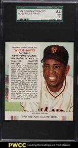 1954 Red Man Tobacco Willie Mays #25 SGC 7 NRMT