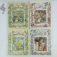 Spring, Summer, Autumn, Winter Story, Brambly Hedge by Jill Barklem Vintage HB