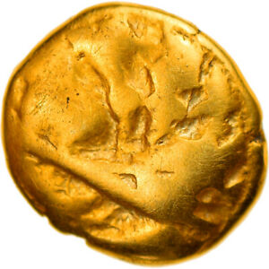 [#897652] Coin, Morini, 1/4 Stater, Ist century BC, VF(20-25), Gold