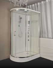 "Shower Room Kokss 9002R-W Glass Room Enclosure Hydro Massage Jets 47"" x 32"""