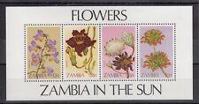TIMBRE STAMP BLOC ZAMBIE Y&T#12 FLEUR FLOWER NEUF**/MNH-MINT 1983 ~B86