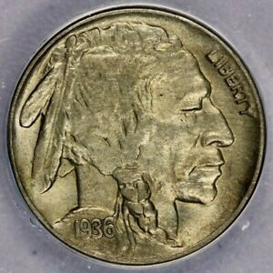 1936-D 1936 Buffalo Nickel ANACS AU58