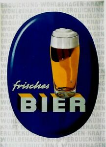 Original vintage poster GERMAN FRESH BEER PROMOTION c.1950