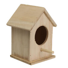 Bird House Wooden Nest Birds Breeding Outdoor Roof Garden Hanging Birdhouse