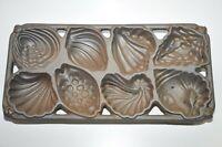 Vintage John Wright Cast Iron 1989 Sea Shell Baking Pan Mold USA