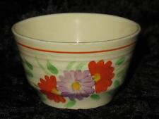 ART DECO Sugar Bowl Orange & Violet Floral Pattern 1930s