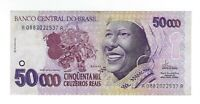 50000 Cruzeiros Reais Brasilien 1994 C240 / P.242 - Brazil Banknote SCARCE